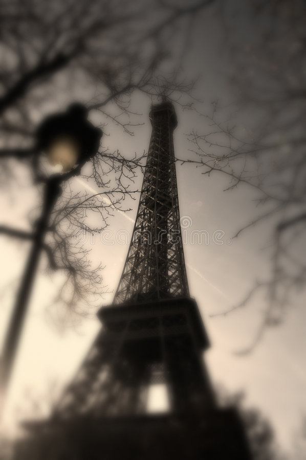 Eiffel Tower classic view stock photography