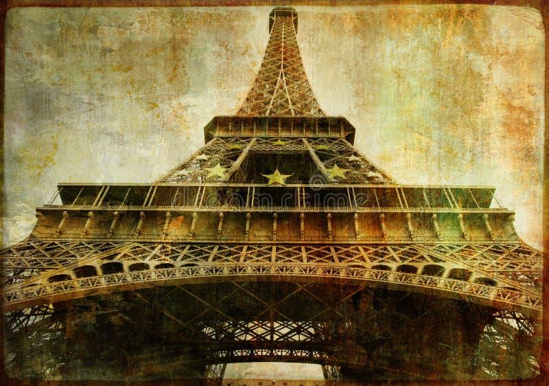Eiffel tower closeup vector illustration