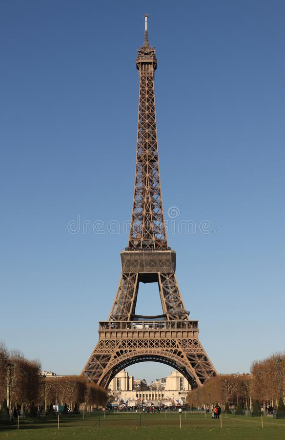 Eiffel Tower cloudless stock images