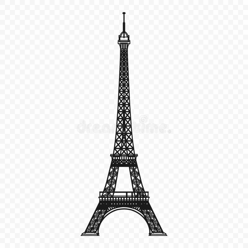 Eiffel tower. Isolated vector illustration royalty free illustration