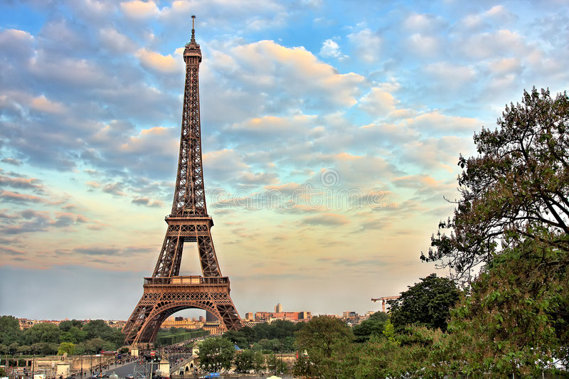 Download Eiffel Tower At Evening, Paris Stock Photo - Image: 8387566