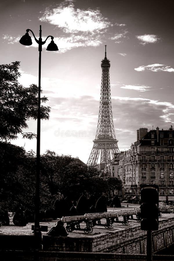 The Eiffel Tower Famous Paris Landmark in France stock photo