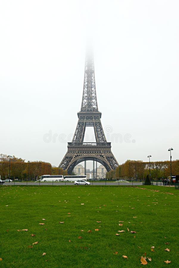 Download Eiffel Tower Fog stock image. Image of overcast, misty - 28000189