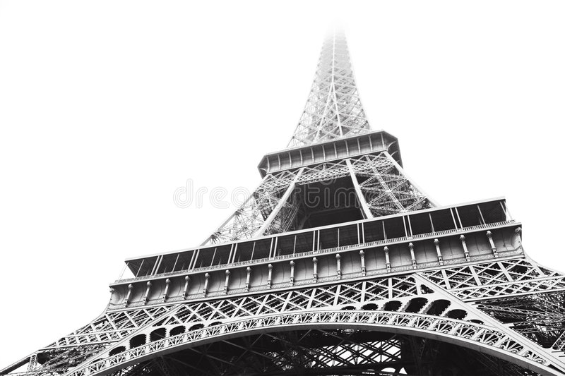 Download Eiffel Tower in greyscale stock image. Image of koechlin - 1475173