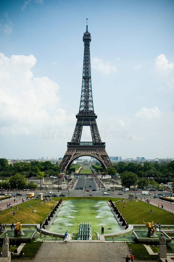 Eiffel Tower, high contrast stock photography