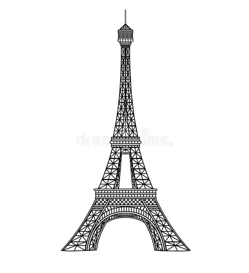 eiffel tower illustration stock vector illustration of europe 14477554. Black Bedroom Furniture Sets. Home Design Ideas