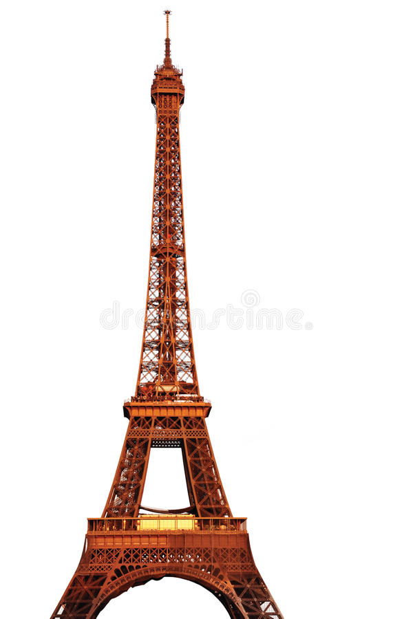 The Eiffel Tower Isolated stock images