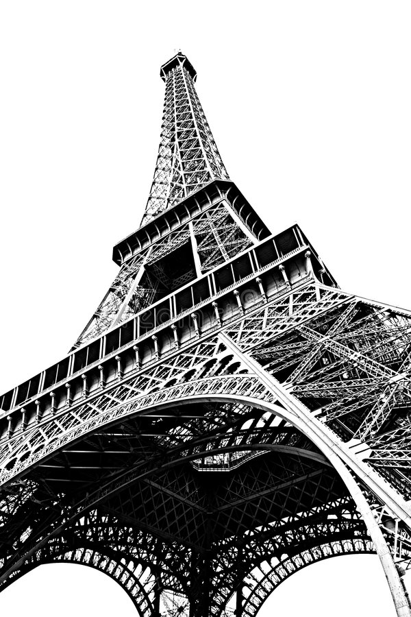Download Eiffel Tower Isolated On White Stock Photo - Image: 7097544