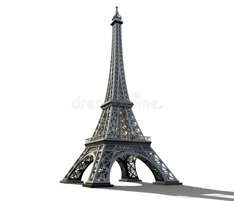 Eiffel tower isolated on a white background. royalty free stock photos