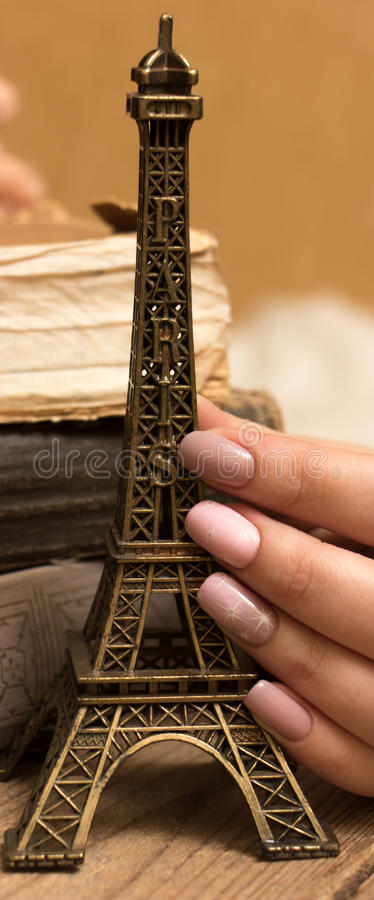 Eiffel Tower keychain royalty free stock image