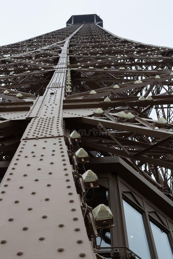 Eiffel Tower Leg Beams, Portrait royalty free stock photo