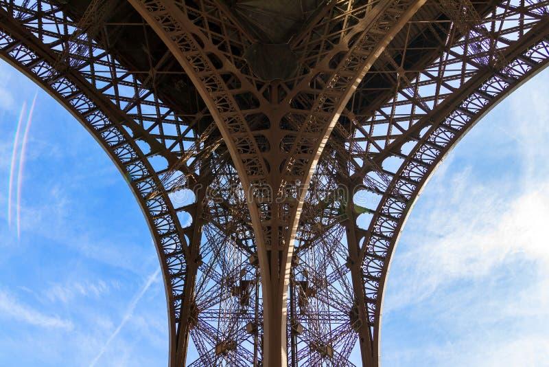 Eiffel tower leg royalty free stock image