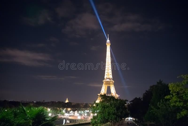 Eiffel Tower Light Show royalty free stock photos