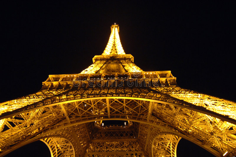 Eiffel Tower At Night Editorial Photo