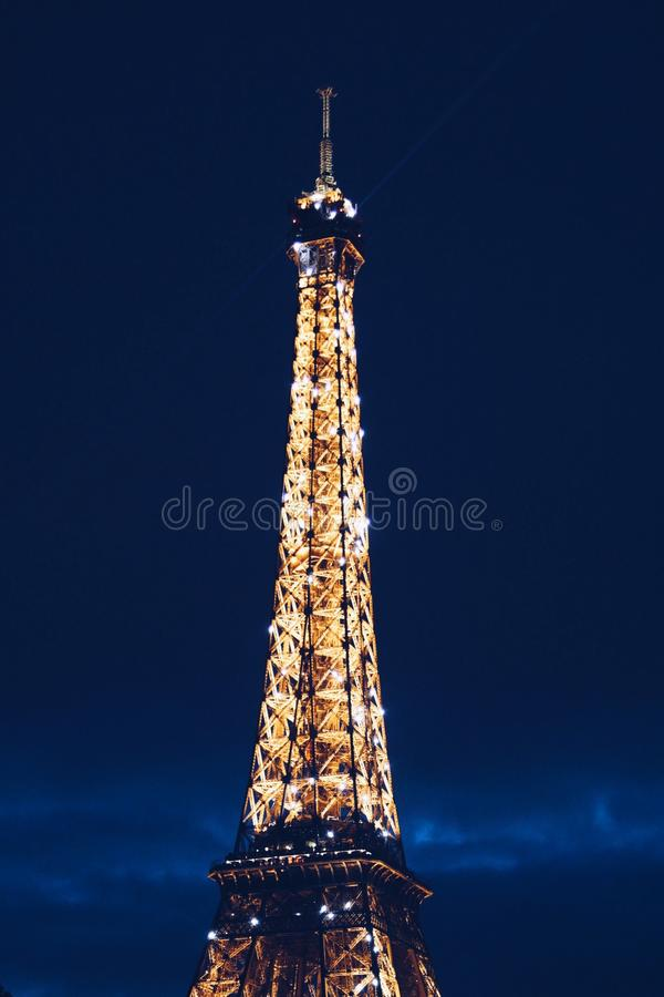 Eiffel Tower During Nighttime Free Public Domain Cc0 Image