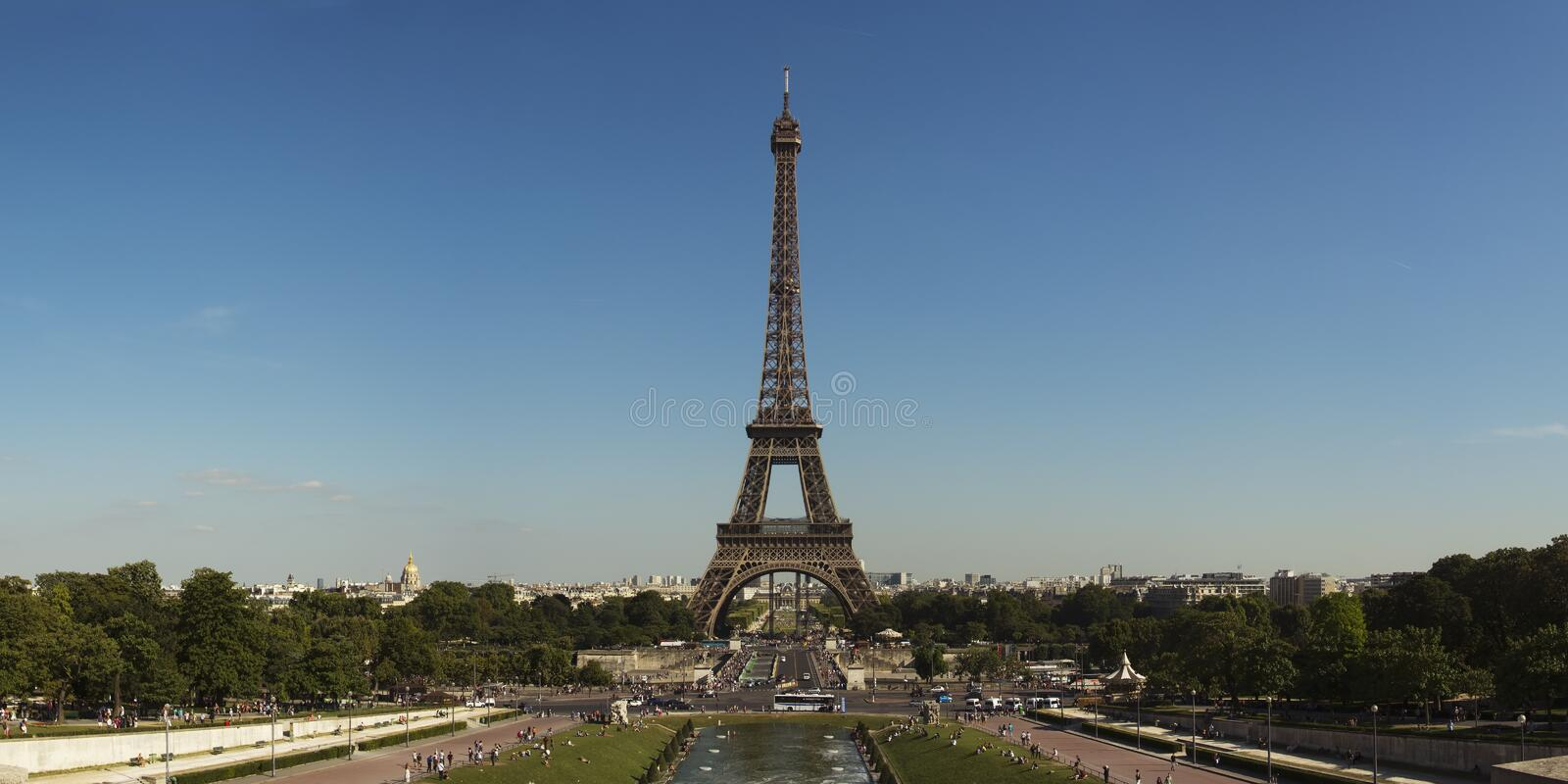 Eiffel Tower Panorama stock images