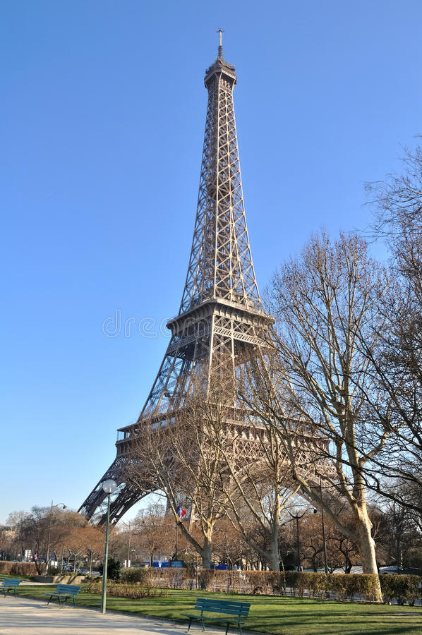 Download Eiffel tower, Paris stock image. Image of monument, winter - 23367649