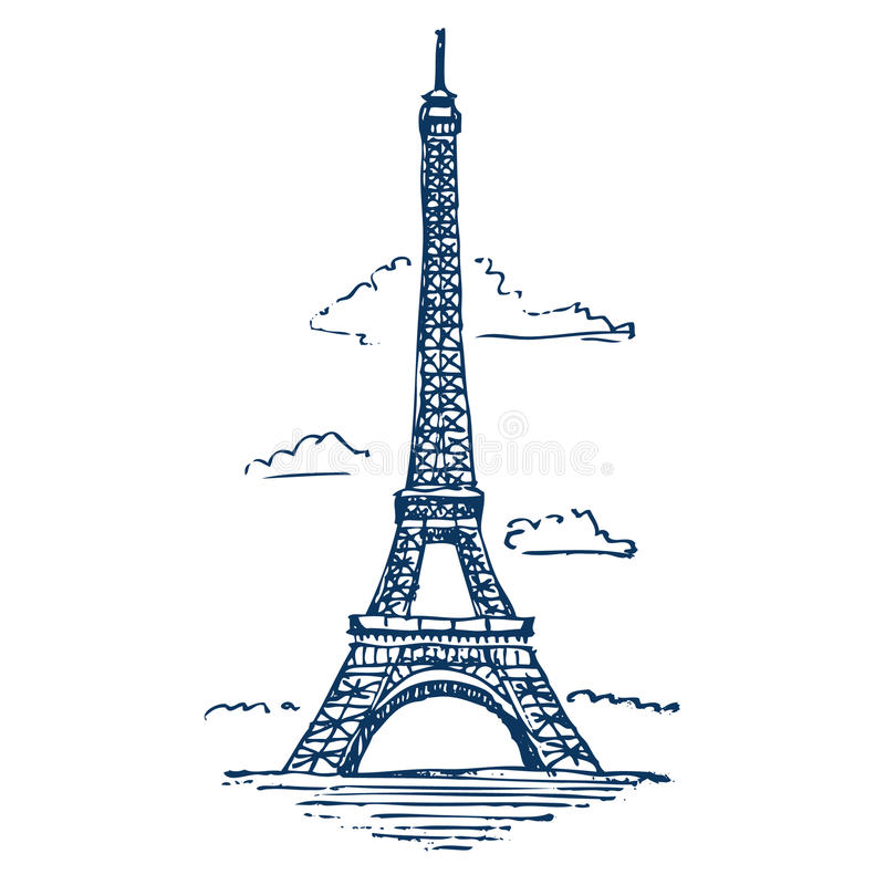 Download Eiffel tower in Paris stock vector. Image of copy, hand - 25324615