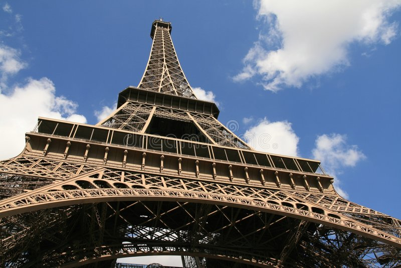Download Eiffel Tower, Paris stock image. Image of travel, clouds - 3802511