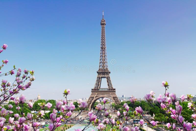 Eiffel Tower and Paris cityscape stock photo