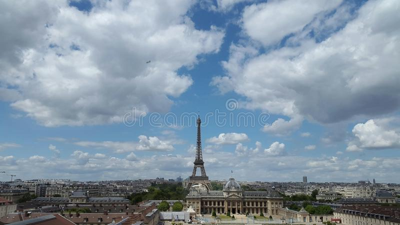 Eiffel tower in paris cityscape, France royalty free stock photos