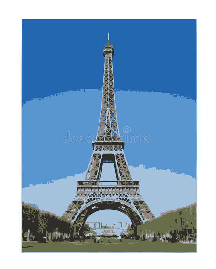 Eiffel tower - Paris/EPS royalty free stock image