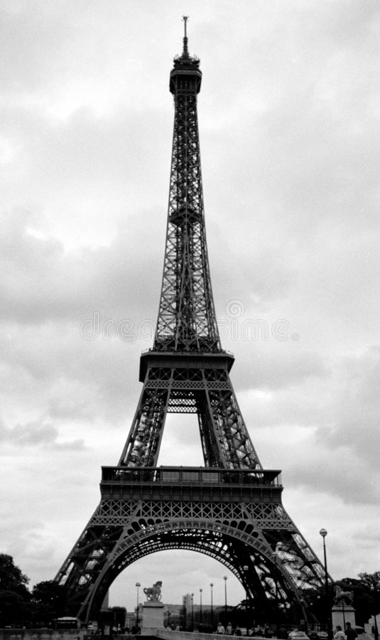 Eiffel Tower in Paris, France stock images