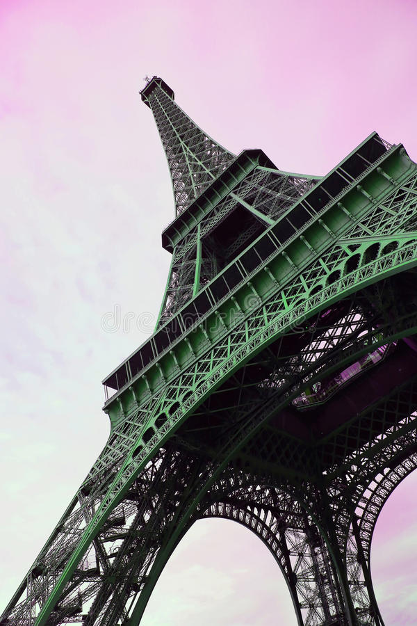Eiffel Tower in Paris, France.  stock image