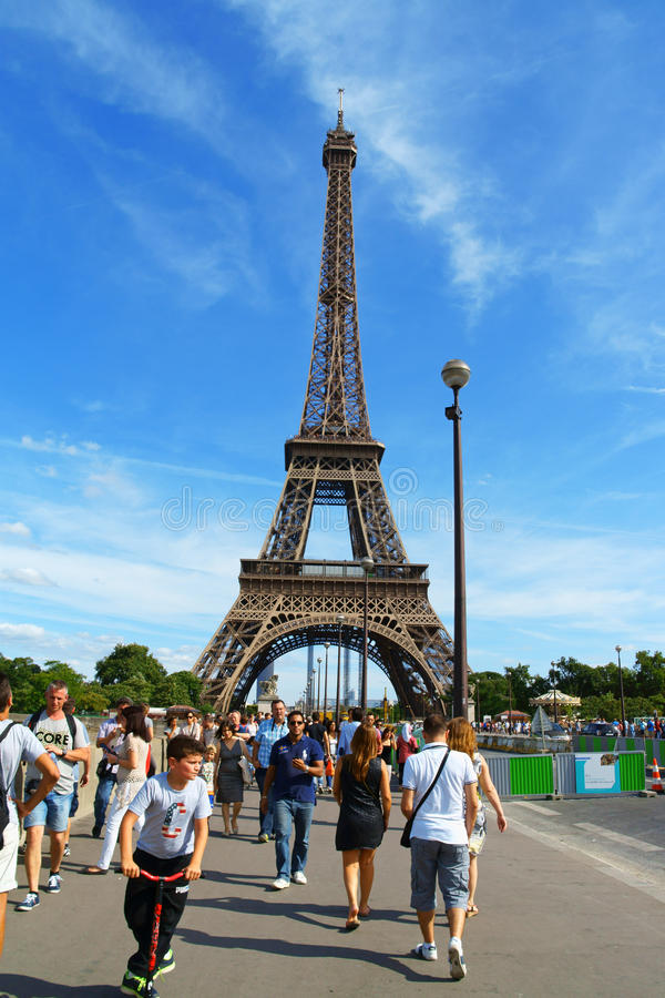 Eiffel Tower In Paris Editorial Stock Photo Image Of Blue