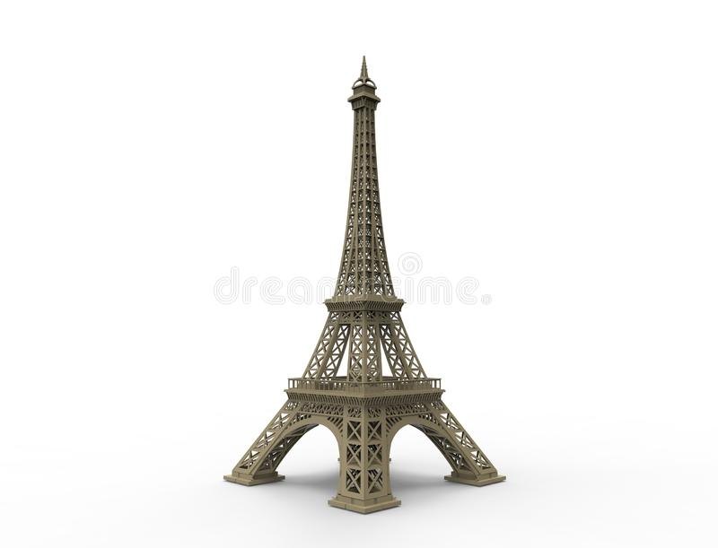 Eiffel tower in Paris France isolated vector illustration