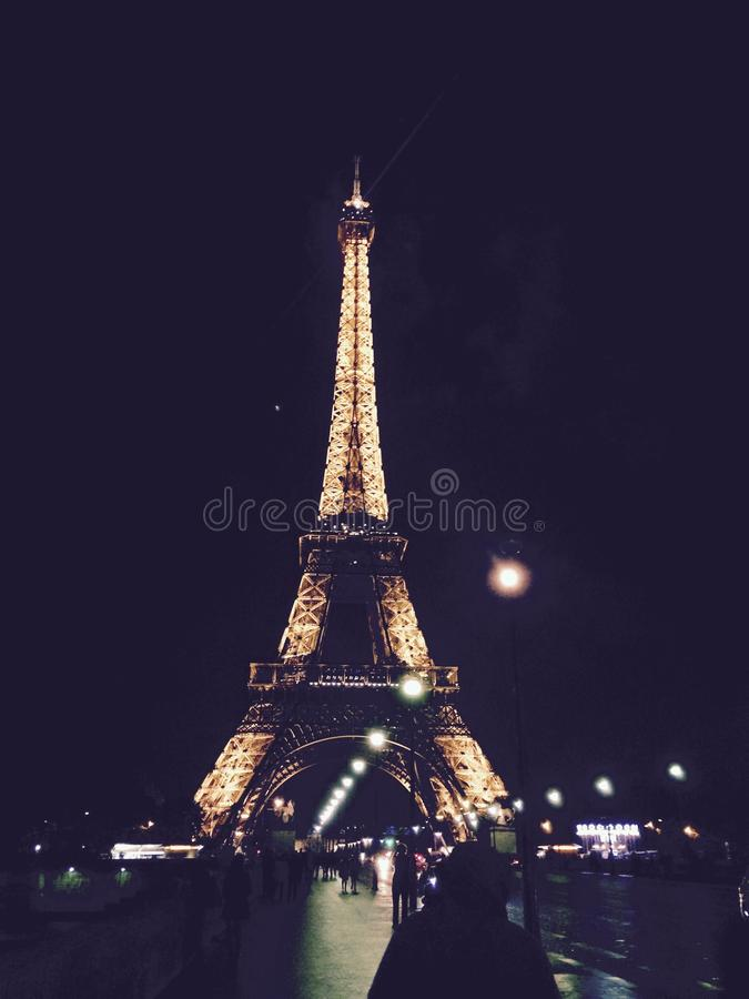 Eiffel Tower, Paris, France At Night Free Public Domain Cc0 Image