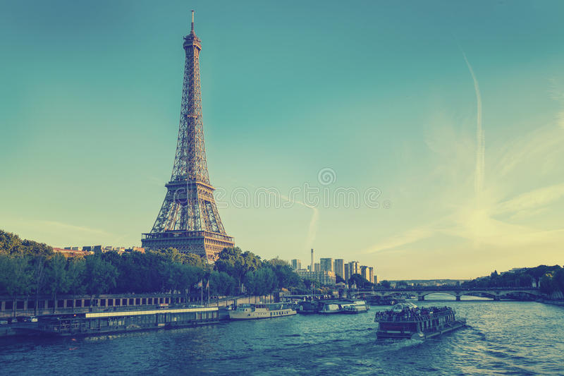 Eiffel Tower in Paris, France. stock images