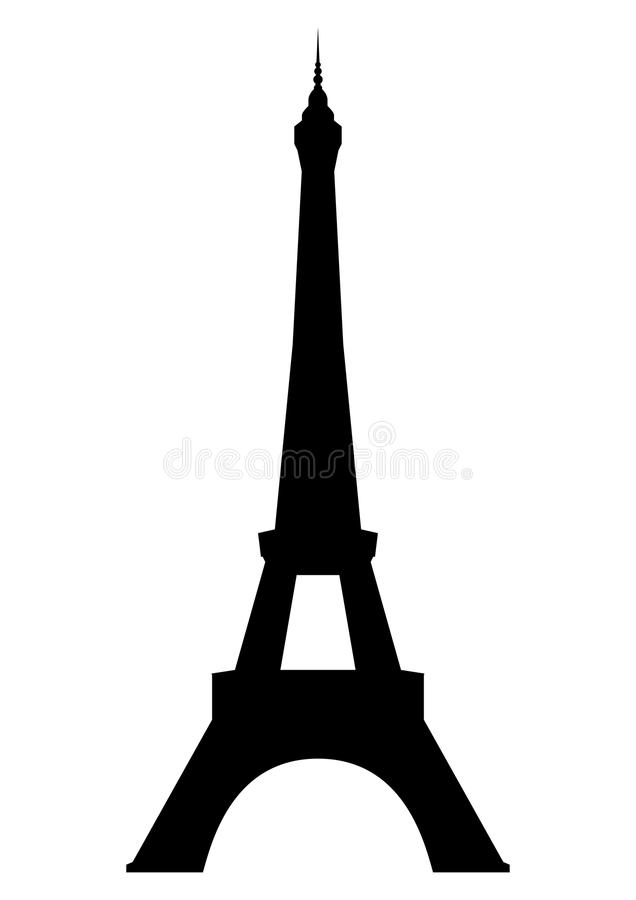 Eiffel tower in Paris. Isolated on white background. Vector EPS10
