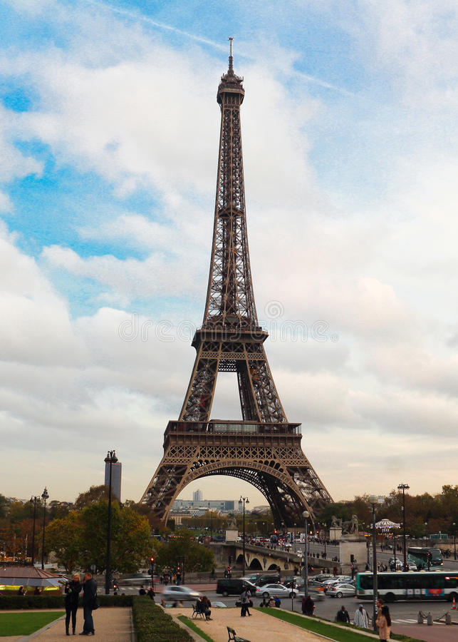 the eiffel tower in paris editorial photo image of landmark 47689296