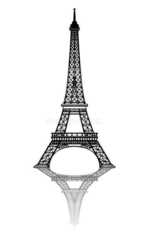 EIFFEL TOWER. (paris monument tour eiffel tourism stock illustration