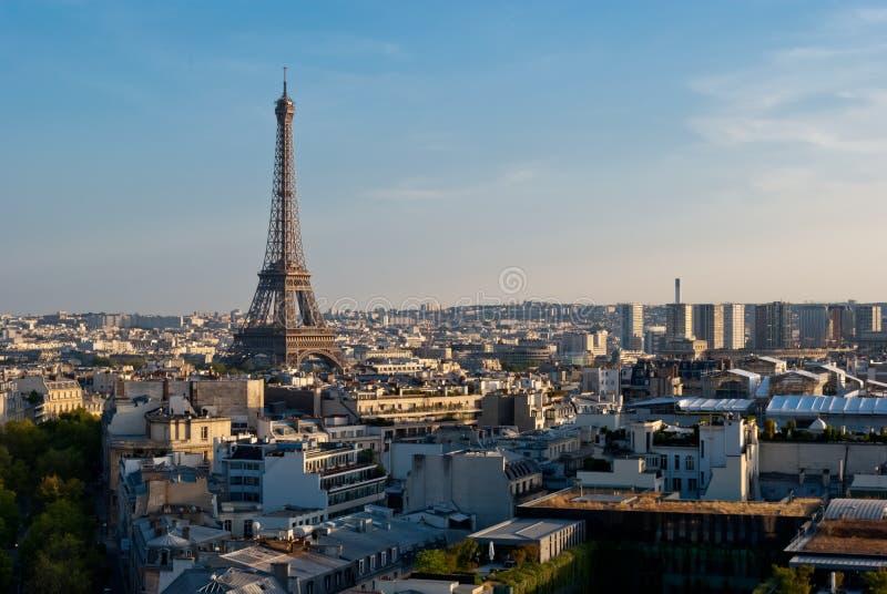 Eiffel Tower, Paris, Panoramic View Stock Photo