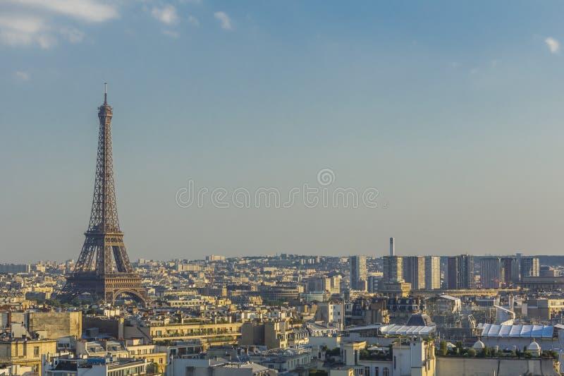 Eiffel Tower Paris skyline France royalty free stock photos