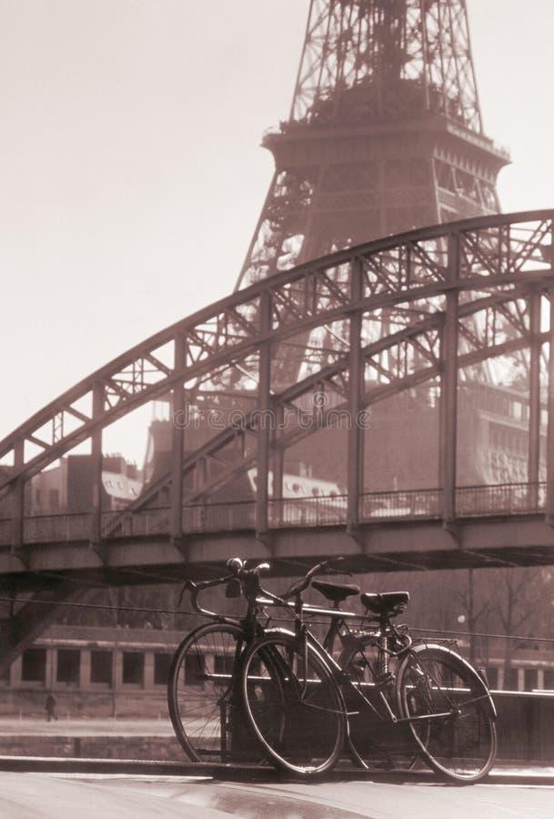 Eiffel tower passarelle debily paris france royalty free stock photo