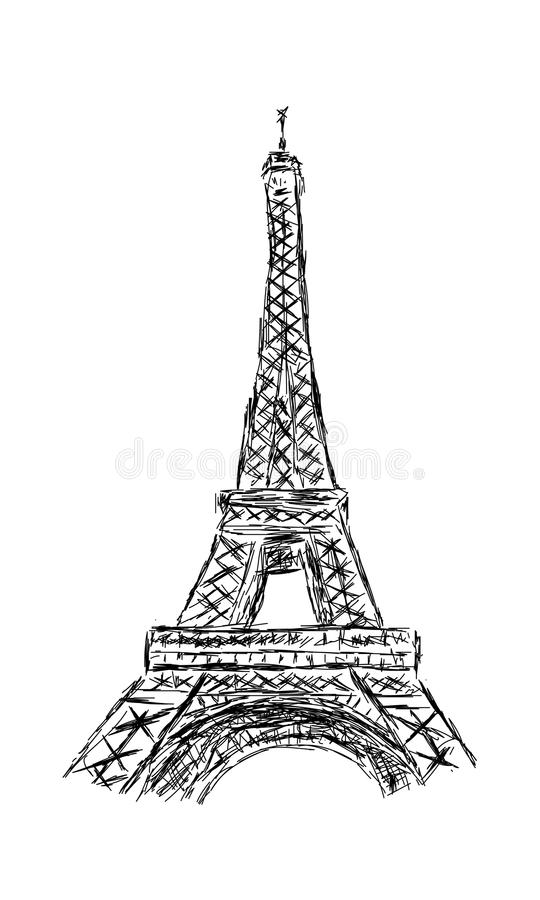 Eiffel Tower Pencil Sketch The Eiffel towe...