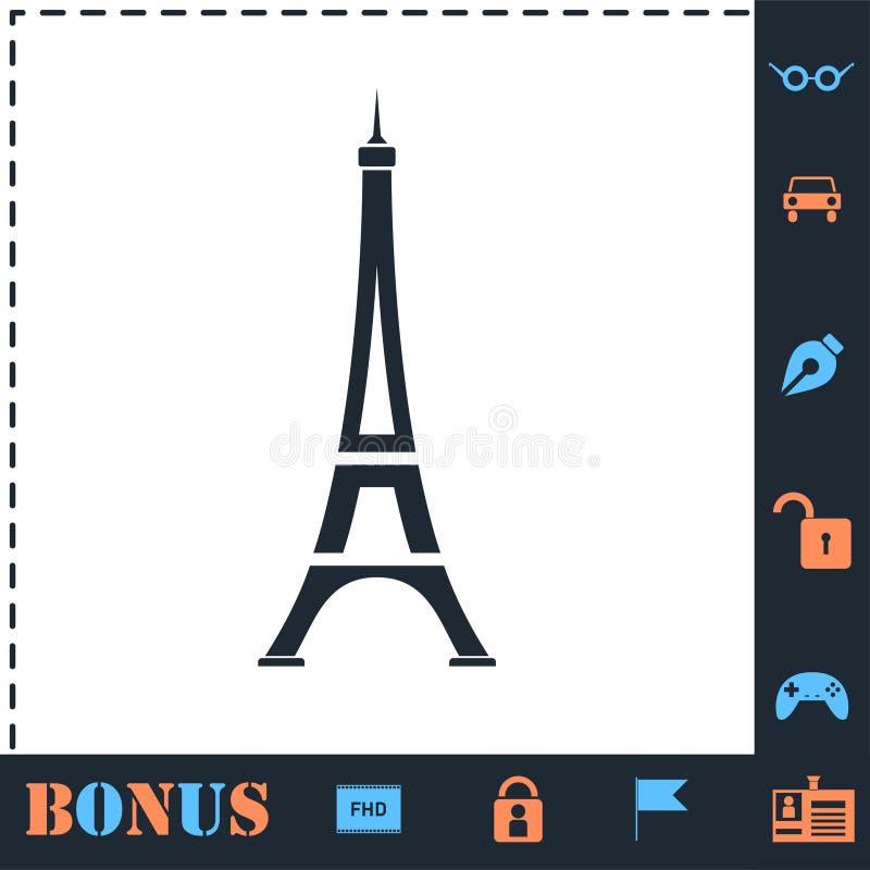 Eiffel tower icon flat royalty free illustration