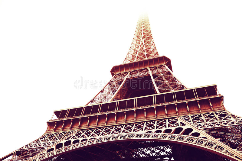 Eiffel Tower in sepia stock photos