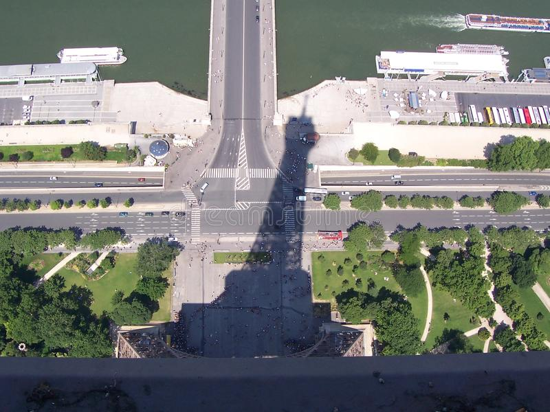 Eiffel tower and Shadow royalty free stock photos