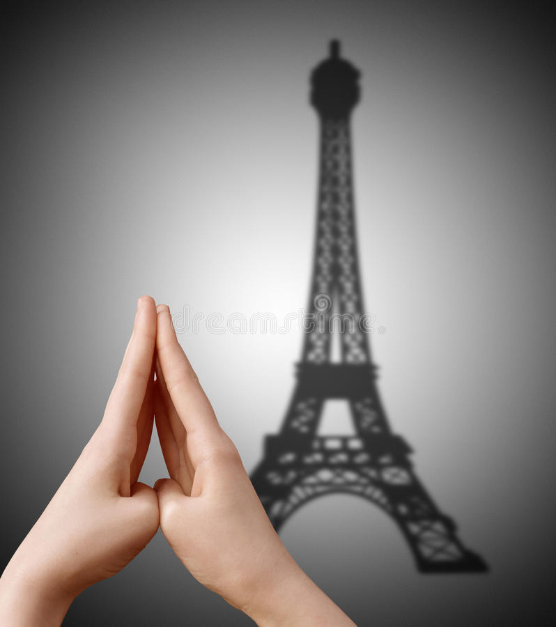 Eiffel tower shadow. royalty free stock images