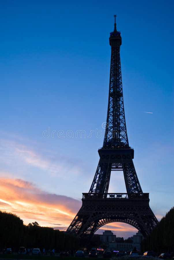 Eiffel Tower Silhouette stock image