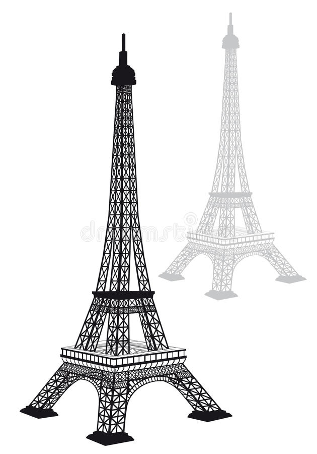 eiffel tower silhouette vector stock vector illustration of vector drawing 30678402 eiffel tower silhouette vector stock