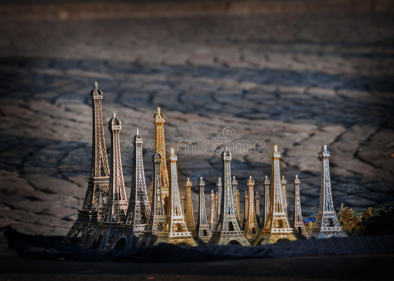 Download Eiffel Tower souvenir stock photo. Image of figurine - 27104056