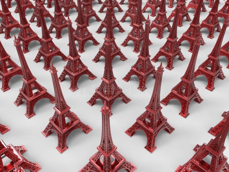 Eiffel tower souvenirs / trinkets royalty free illustration
