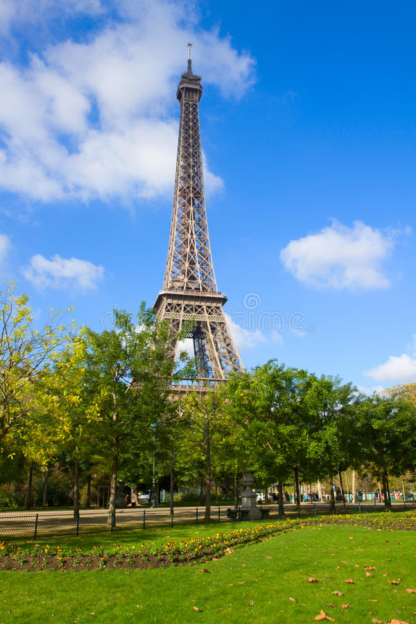 Eiffel Tower at spring, France royalty free stock images