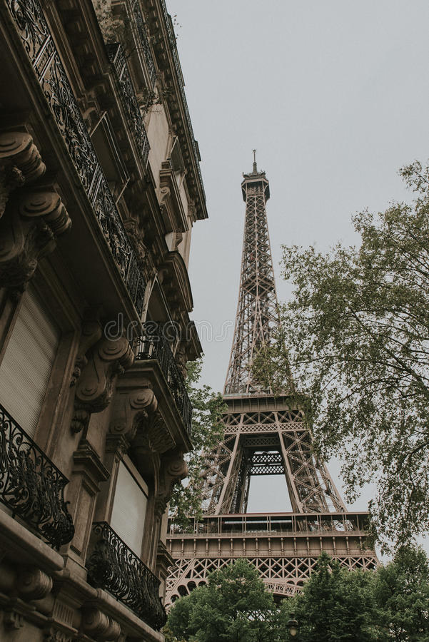 Eiffel Tower in Spring royalty free stock image