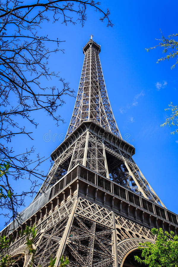 Eiffel Tower Spring stock photo